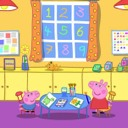 Peppa and George at playgroup