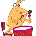 Drumming doggy